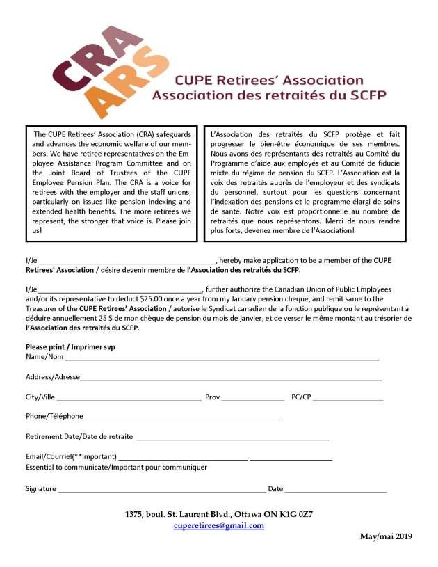 Membership form May 2019